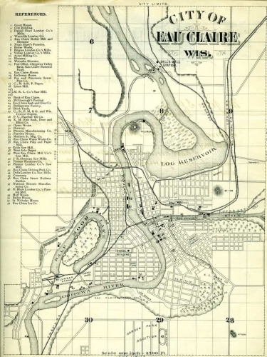 Eau Claire City Map Print