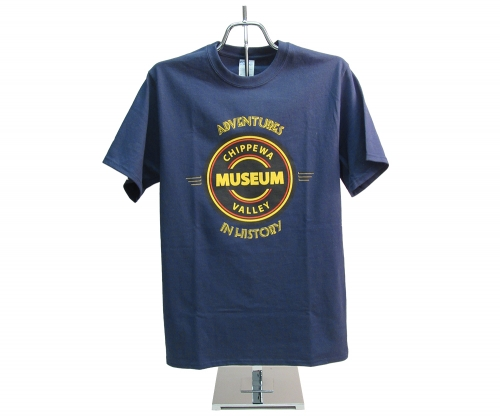 CHIPPEWA VALLEY MUSEUM LOGO T-SHIRT, ADULT