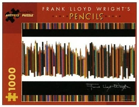 Frank Lloyd Wright's Pencils 1000 piece puzzle