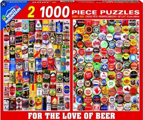 For the Love of Beer 2-1, 1000 Piece Puzzles